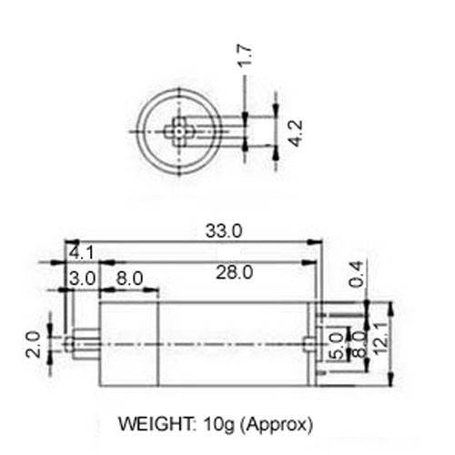 Diagram - Gearmotors - Basic - Hobby - 12.1mm Diameter