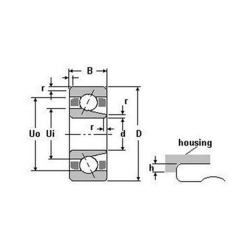 Diagram - Bearings - Ceramic Si3N4 - Angular Contact