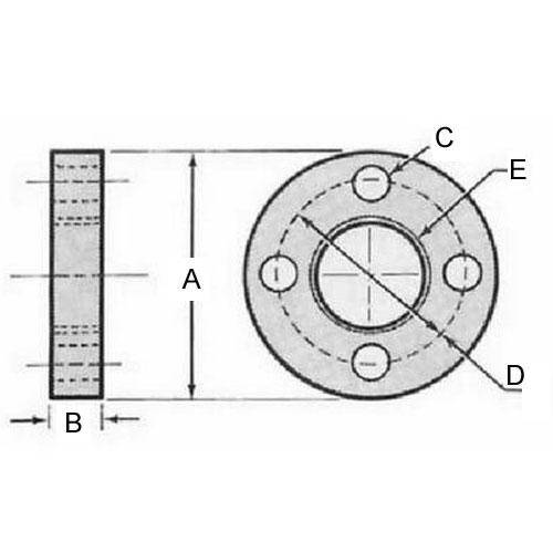 Diagram - Leadscrew Nut Flanges for Acme Supernuts