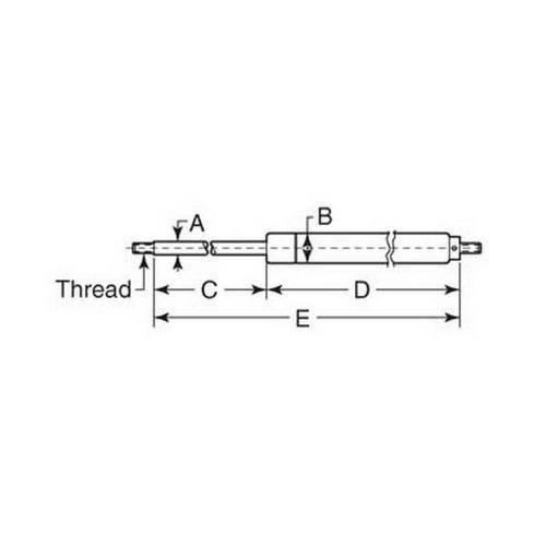 Diagram - Gas Springs - Adjustable Force
