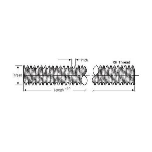 Diagram - Studs - Full Thread - Stainless Steel