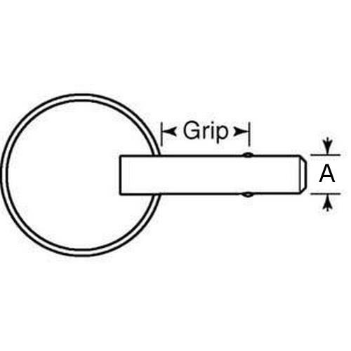 Diagram - Pins - Ball Lock - Marine - Ring Style