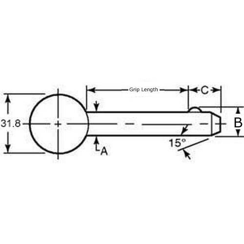 Diagram - Pins - Ball Lock - Ball Handle - Plastic Handle