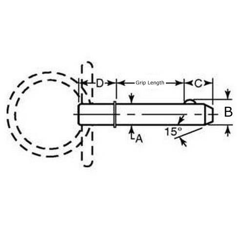 Diagram - Pins - Ball Lock - Shoulder Type - Ring Handle