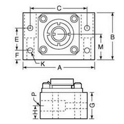 Diagram - Mounts - Universal - For Acme Thread and Ballscrews
