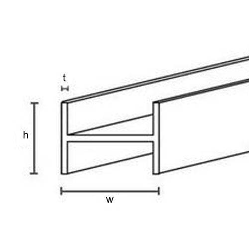 Diagram - Bar - H Section - Brass