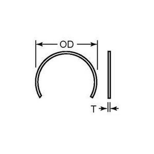 Diagram - Rings - Retaining - C Type External - For Linear Bearings