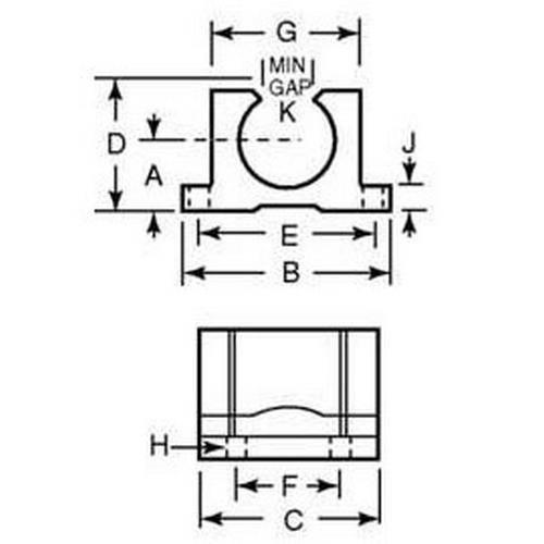 Diagram - Housings - Bearing - Pillow Block - Frelon - Standard - Open