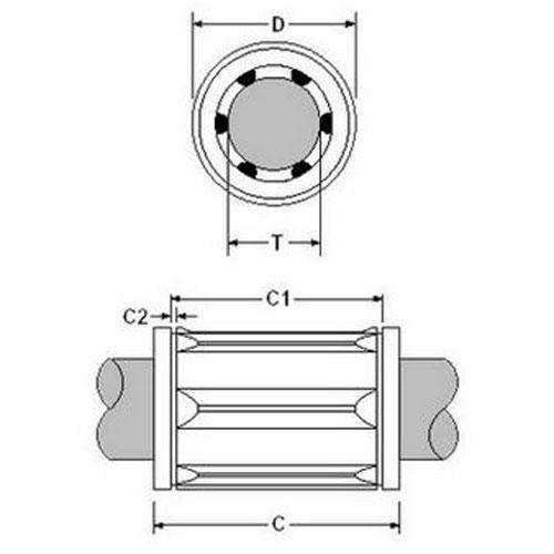 Diagram - Bearings - Linear - Ball - Thomson Precision Steel - Closed