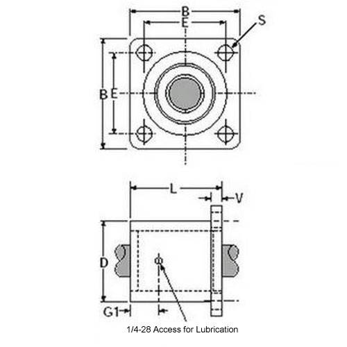 Diagram - Housings - Linear - Thomson Super Smart Flanged