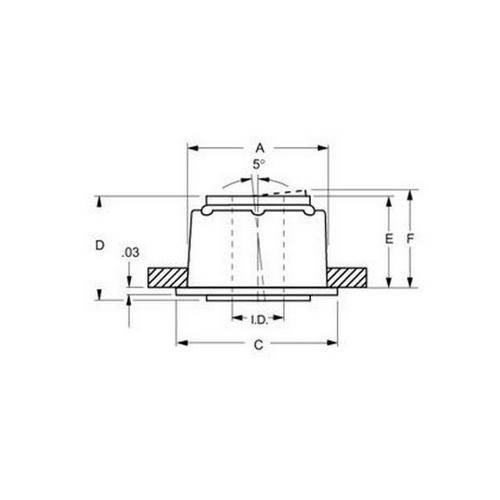 Diagram - Bearings - Press-Fit - Acetal - SDP