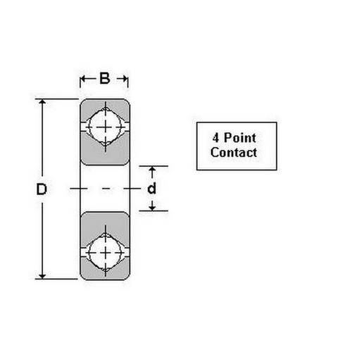 Diagram - Bearings - Ball - 4 Point Contact