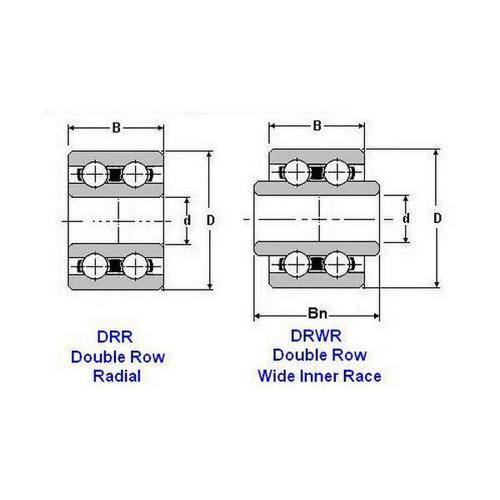 Diagram - Bearings - Ball - Double Row - Radial
