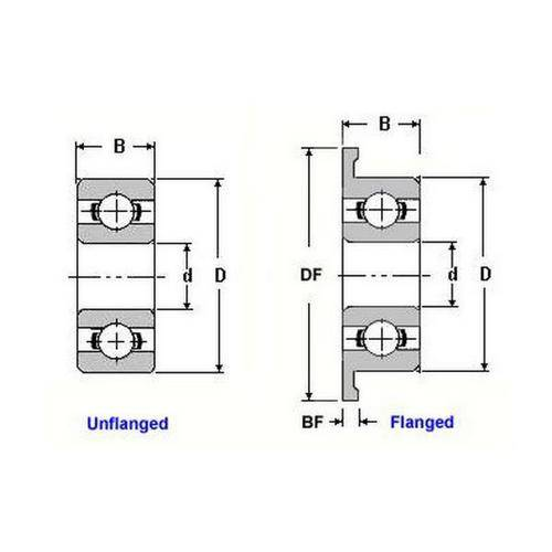 Diagram - Bearings - Ball - Ceramic Hybrid