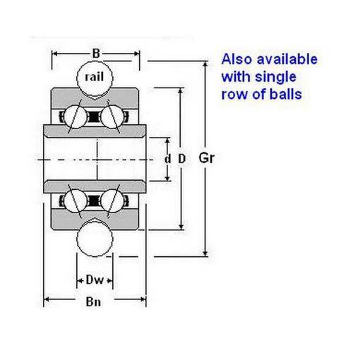 Diagram - Bearings - Gothic Groove Profile OD
