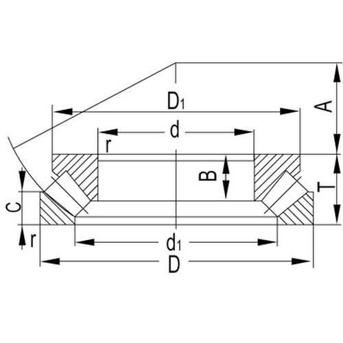 Diagram - Bearings - Spherical Roller Thrust