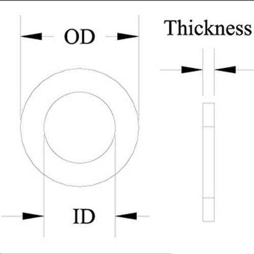 Diagram - Bearings - Thrust - Ball - Washers Only - Stainless Steel