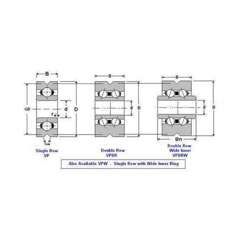 Diagram - Bearings - Vee Groove Profile OD