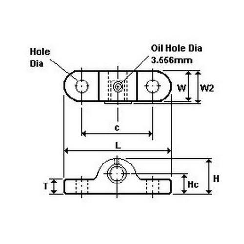 Diagram - Housings - Bearing - Pillow Block - Die Cast