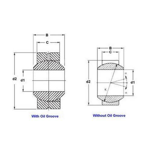 Diagram - Bushings - Spherical - Steel - With Wiper Seal