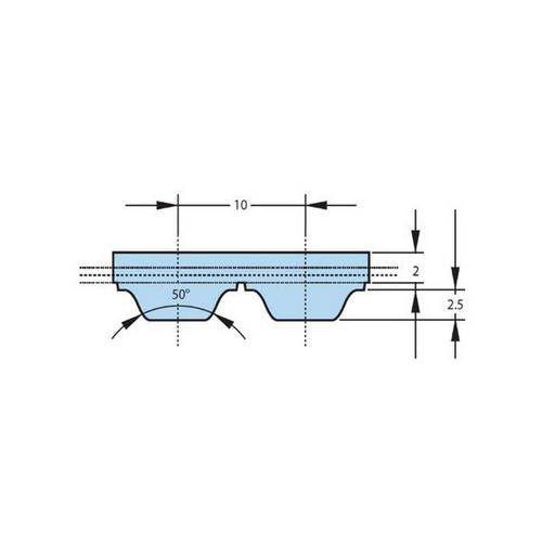 Diagram - Belts - Timing - 10.000mm Pitch - AT10 - 32mm Wide