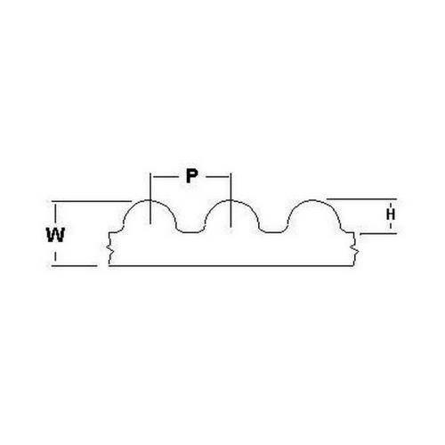Diagram - Belts - Timing -  3.000mm Pitch - GT2 - 15mm Wide