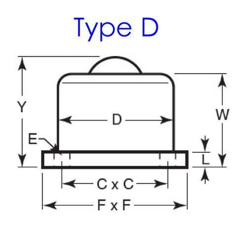 Diagram - Ball Transfer Units - Base Mount  - Heavy Duty - Steel
