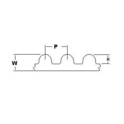 Diagram - Belts - Timing - 14.000mm Pitch - GT2 -  55mm Wide