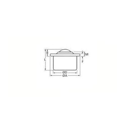 Diagram - Ball Transfer Units - Flange Mount - Standard - Stainless - Deep