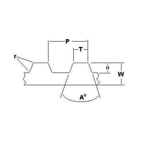 Diagram - Belts - Timing -  5.080mm Pitch - XL - 8mm Wide