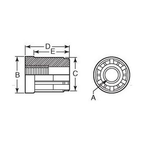 Diagram - Bungs - Round - Threaded
