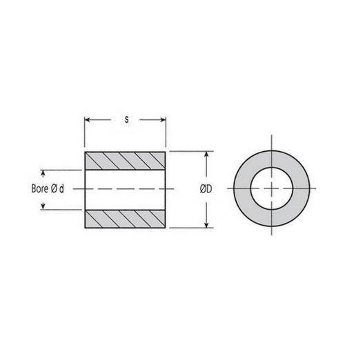 Diagram - Bushes - Bronze - Sintered - Unflanged