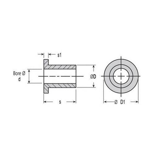 Diagram - Bushes - Plastic - Iglidur A200 - Flanged