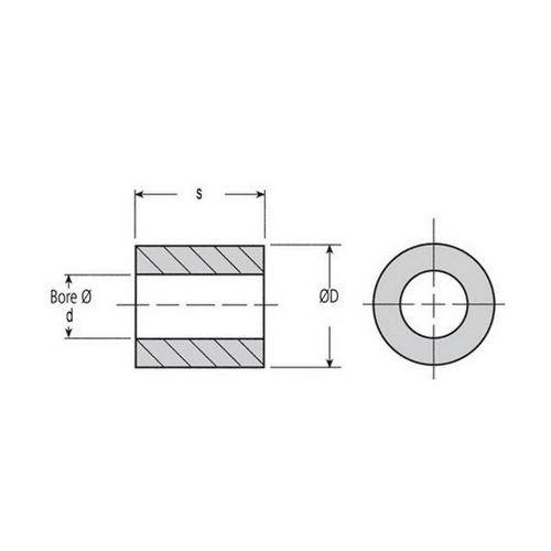 Diagram - Bushes - Plastic - Iglidur G - Unflanged