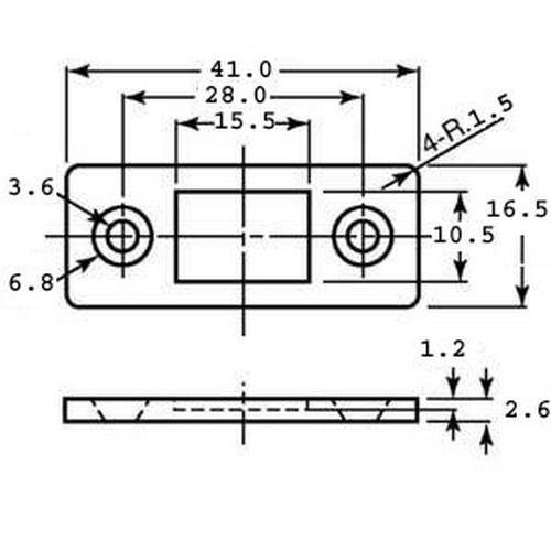 Diagram - Catches - Magnetic - Ultra Thin - Heavy Duty