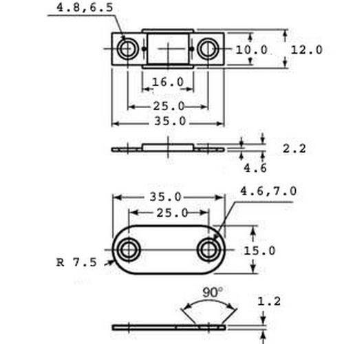 Diagram - Catches - Magnetic - Ultra Thin - Light Duty