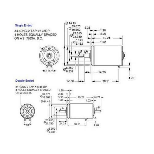 Diagram - Clutch Brakes - Magnetic - Bu-Ord Size 18