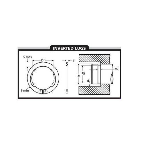 Diagram - Circlips - External - Inverted