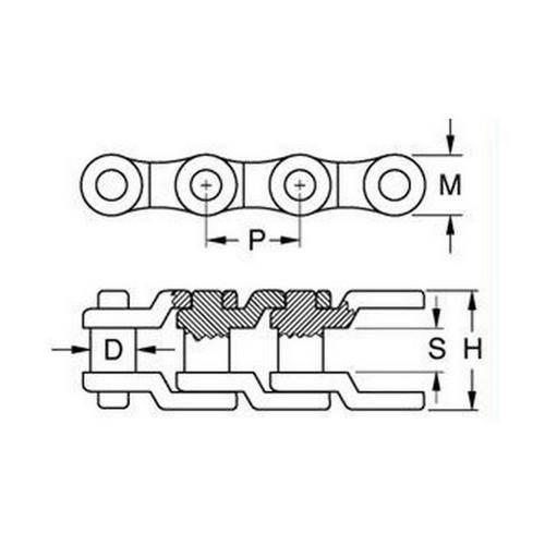 Diagram - Chain - Roller - Plastic - Simplex