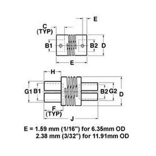 Diagram - Couplings - Helical - Precision