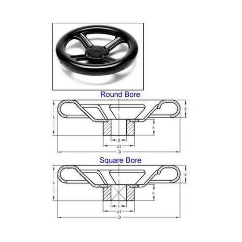Diagram - Cranks - Handwheel - Spoked