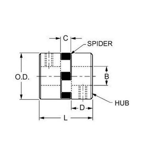 Diagram - Couplings - Spider Type B - Complete