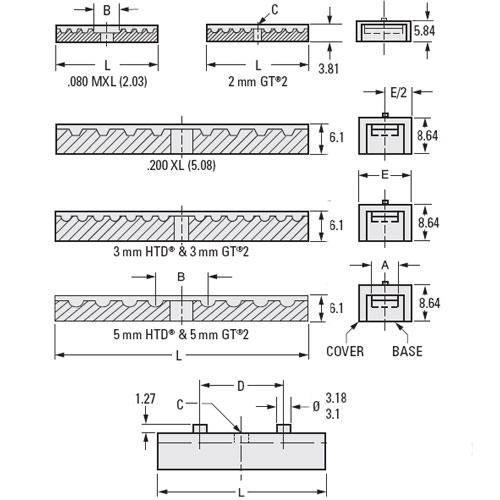 Diagram - Clamps - Timing Belt