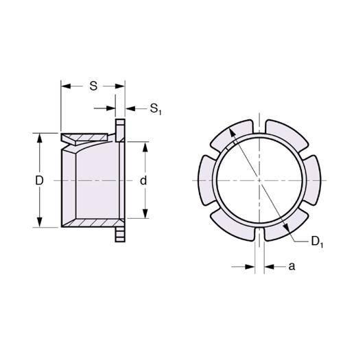 Diagram - Bushes - Plastic - Clip - Bevelled Edge