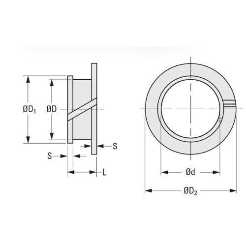 Diagram - Bushes - Plastic - Clip - Double Flanged