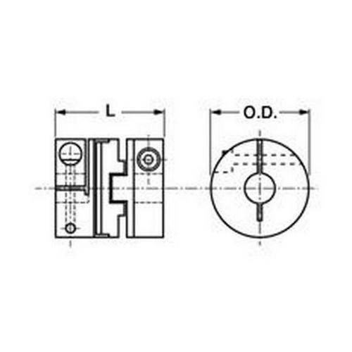 Diagram - Couplings - Oldham - Disks for Clamp Style
