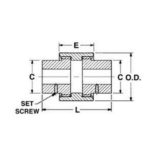 Diagram - Couplings - Crowned Tooth Gear - Sleeve Only