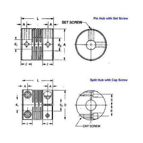 Diagram - Couplings - Slit Type - Standard
