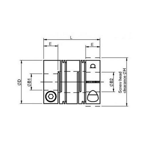 Diagram - Couplings - Reli-a-flex - Short Series - Clamp Type