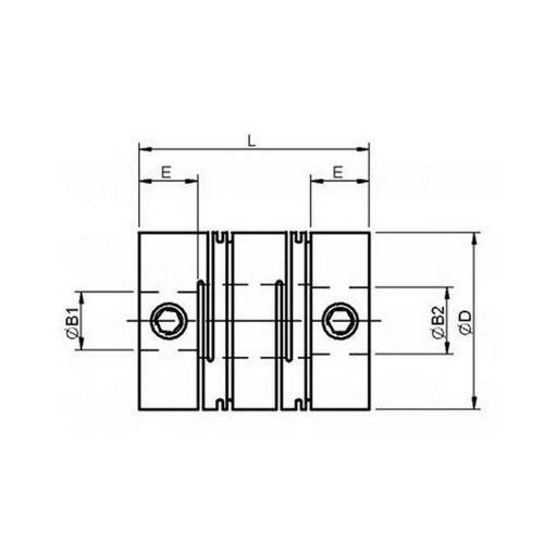 Diagram - Couplings - Reli-a-flex - Short Series - Set Screw Type
